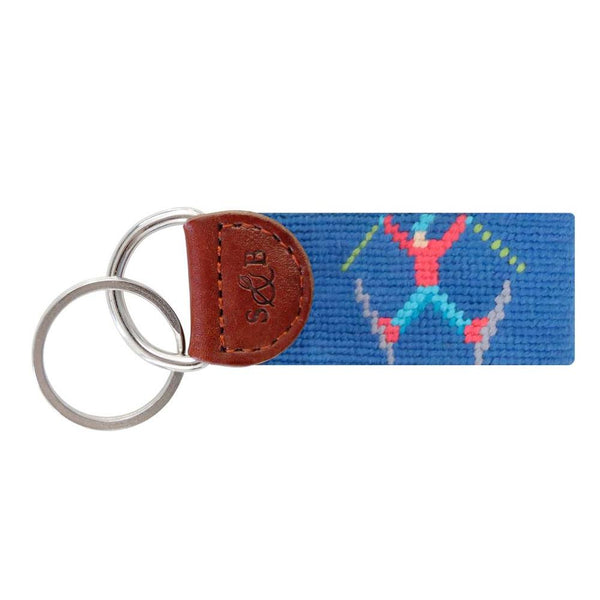 Smathers & Branson Ski Tricks Needlepoint Key Fob