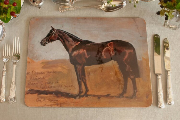 "Munnings ""Study of Mr Lambton's Horse, Pricket"" Serving Mat"