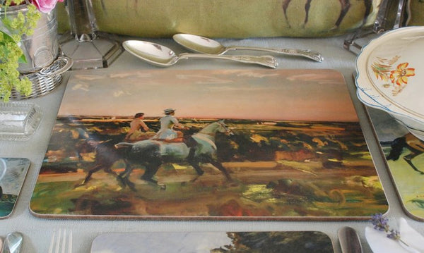 "Munnings ""Two Lady Riders Under an Evening Sky"" Serving Mat"