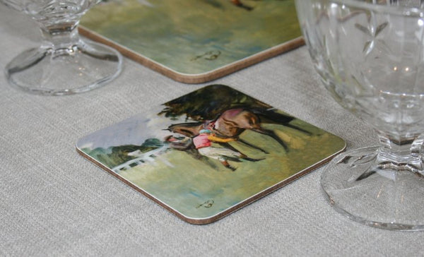 "Munnings ""Unsaddling of a Racehorse"" Coaster"