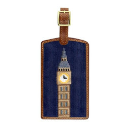 Smathers & Branson Big Ben Needlepoint Luggage Tag