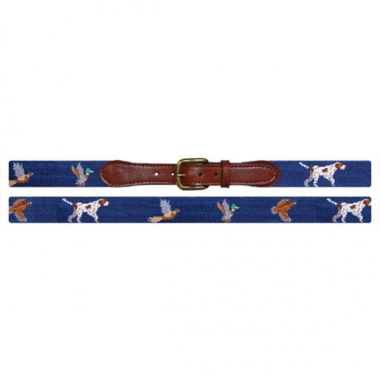 Smathers & Branson Bird Dog Needlepoint Belt