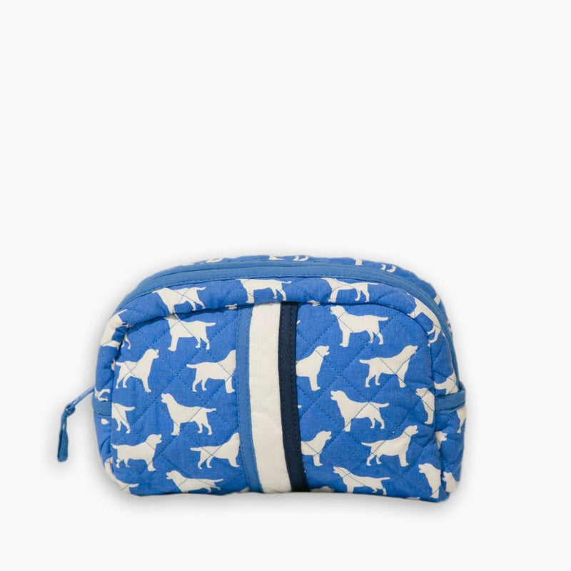Pomegranate Quilted Cosmetic Bag - Blue Labrador
