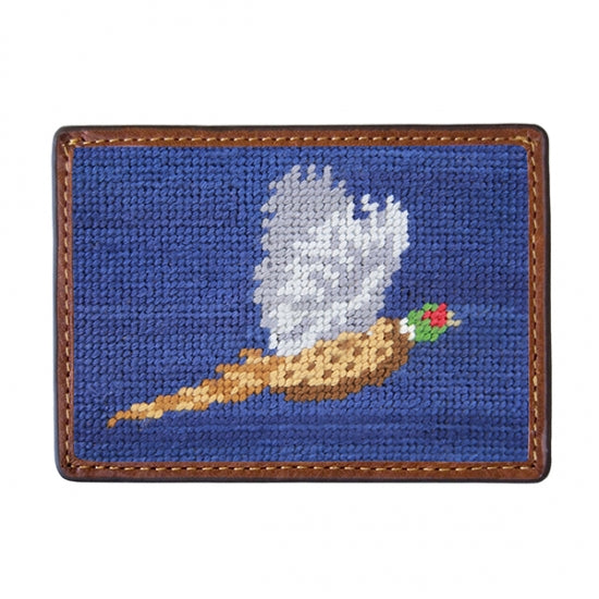 Smathers & Branson Pheasant Needlepoint Card Wallet