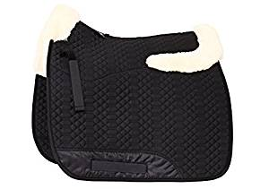 Engel Sheepskin Dressage Saddle Pad – Half Lining, Pommel & Cantle Roll