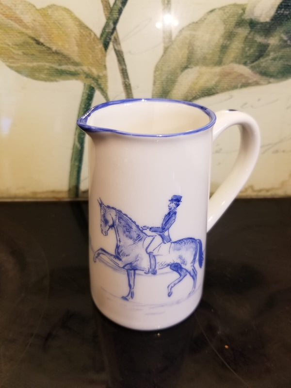 Muffet Monro Handpainted Dressage Small Jug - Blue & White