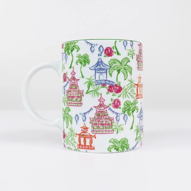 Pomegranate Ceramic Mug - Palms & Pagodas