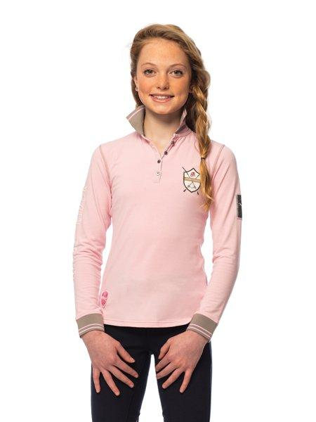 Goode Rider Girls Long Sleeve Champion Polo Shirt - Kids