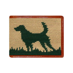 Smathers & Branson Hunting Dog Needlepoint Bi-fold Wallet