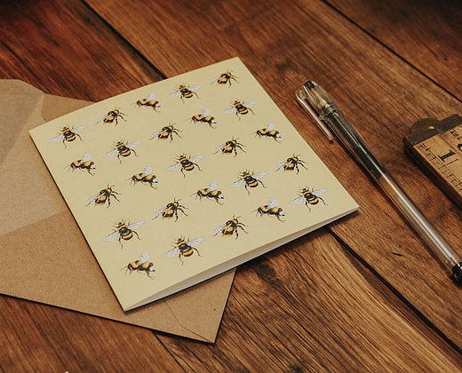 Sophie Botsford Bumble Bees Greetings Card