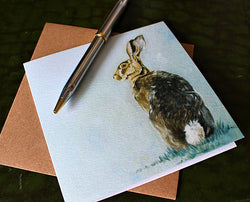 Sophie Botsford Cotton Tail Hare Greetings Card