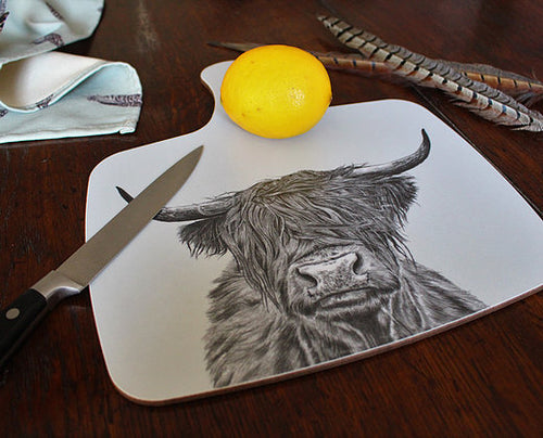 Sophie Botsford Highland Cow Chopping Board