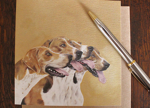 Sophie Botsford Foxhounds Greetings Card