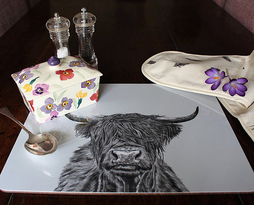 Sophie Botsford Highland Cow Serving Mat