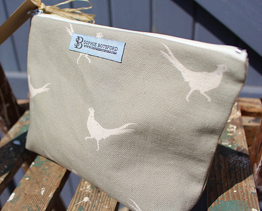 Sophie Botsford Pheasant Cosmetic Bag