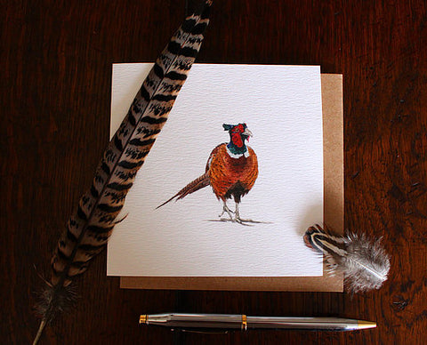 Sophie Botsford Pheasant Drawing Greetings Card
