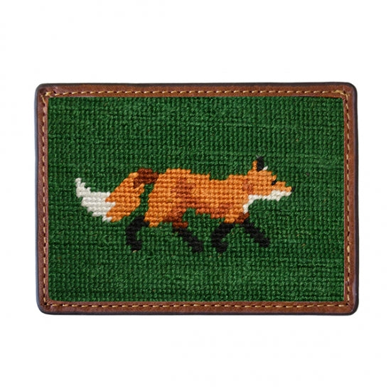 Smathers & Branson Fox Needlepoint Card Wallet