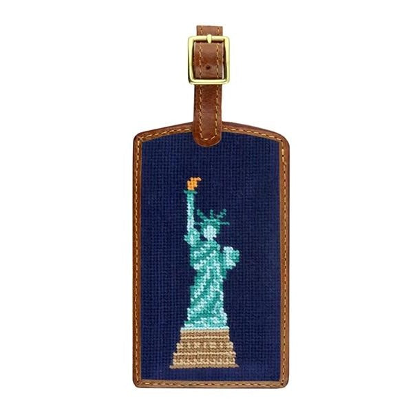 Smathers & Branson Statue of Liberty Needlepoint Luggage Tag