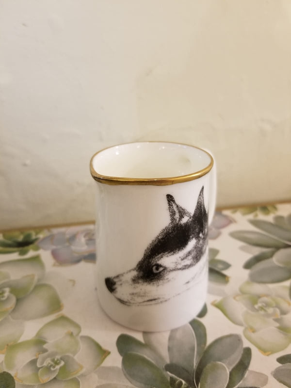 Muffet Monro Fox Mini Jug - Black & Gold