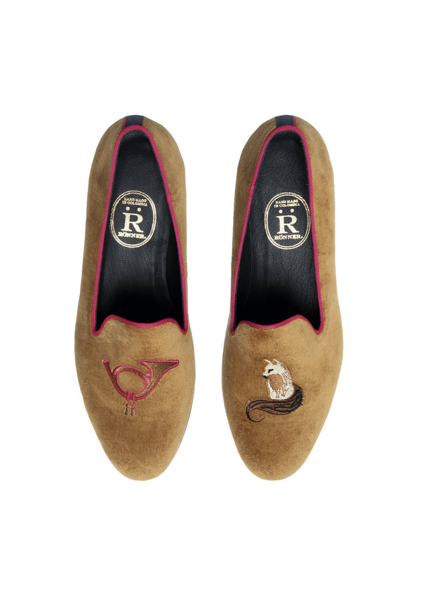 Rönner Mimosa Fox Velvet Loafer