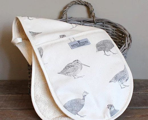 Sophie Botsford Game Birds Double Oven Gloves