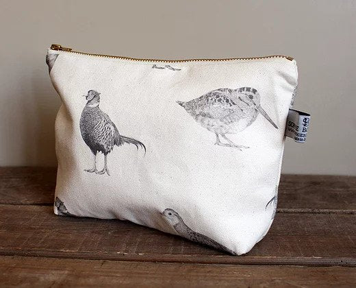 Sophie Botsford Game Birds Cosmetic Bag