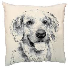 Eric & Christopher Golden Retriever Cushion Cover