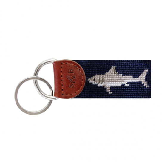 Smathers & Branson Great White Shark Needlepoint Key Fob