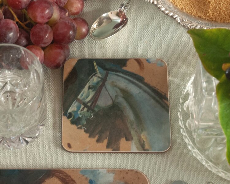 "Munnings ""Study of a Grey Mares"" Head Coaster"