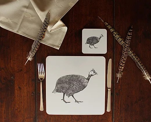 Sophie Botsford Guinea Fowl Placemat