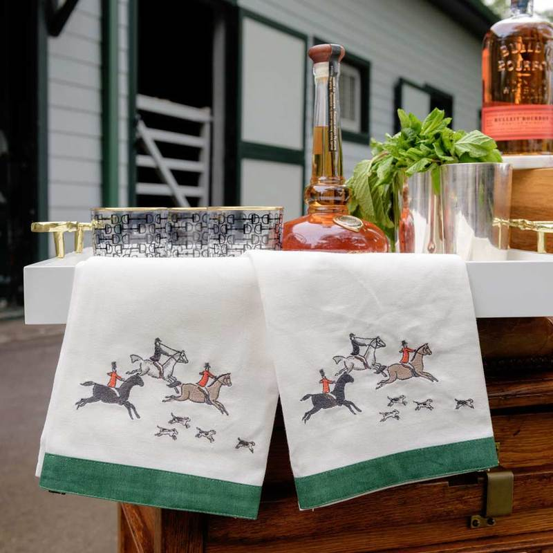 Pomegranate Embroidered Hunt Hand Towel