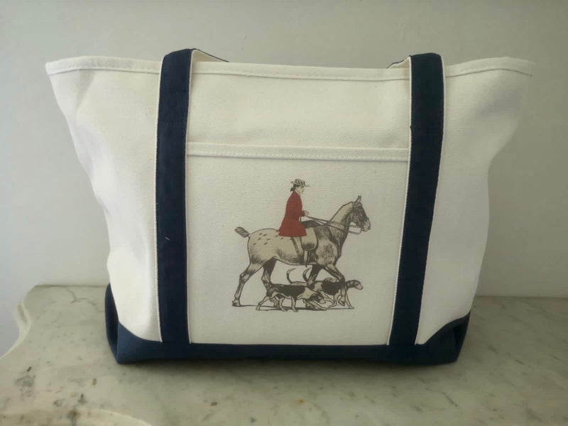 Ox Bow Decor Horse & Hounds Large Tote Bag