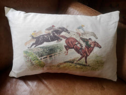 Ox Bow Decor Horses Over The Fence Knife Edge Lumbar Pillow