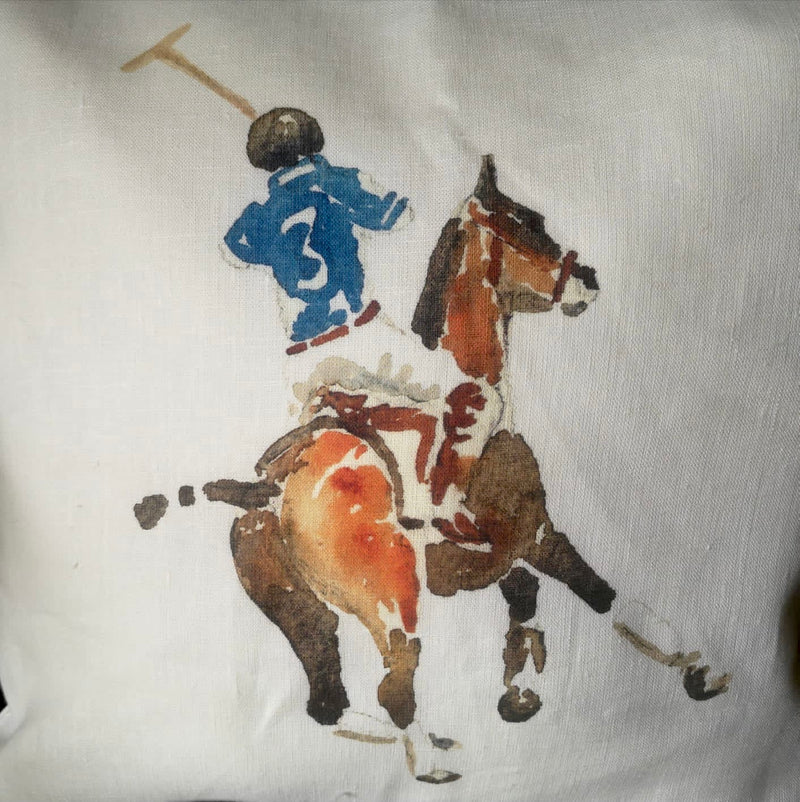 Ox Bow Decor Polo Player Knife Edge Cushion