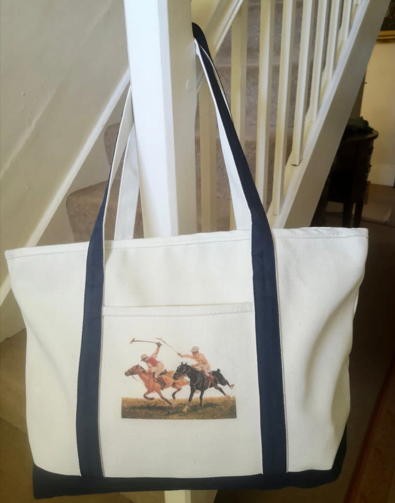 Ox Bow Decor Polo Match Large Tote Bag