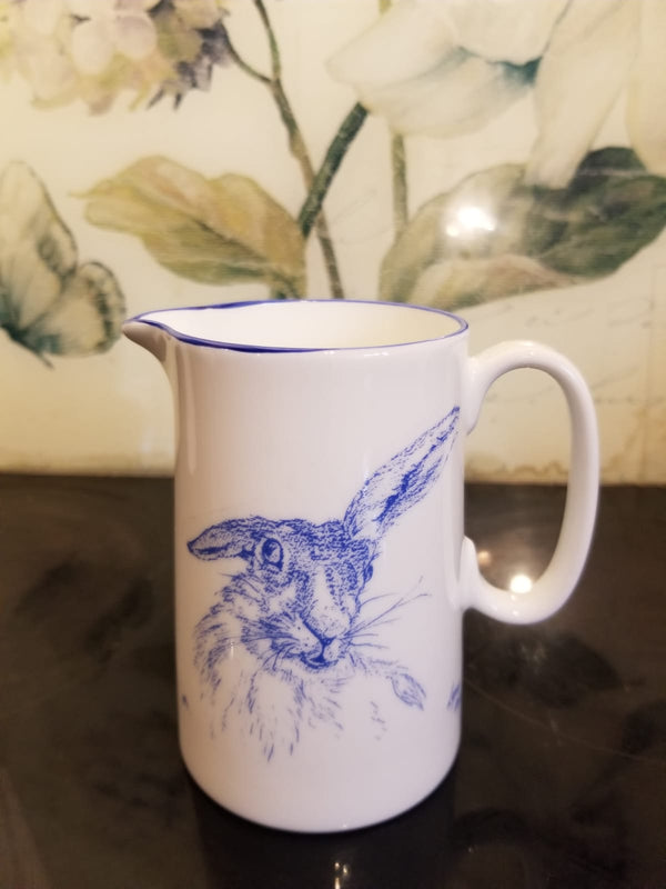 Muffet Monro Lop Ear Hare Small Jug - Blue & White