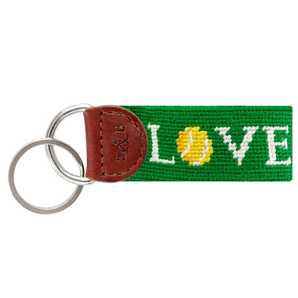 Smathers & Branson Love All Needlepoint Key Fob