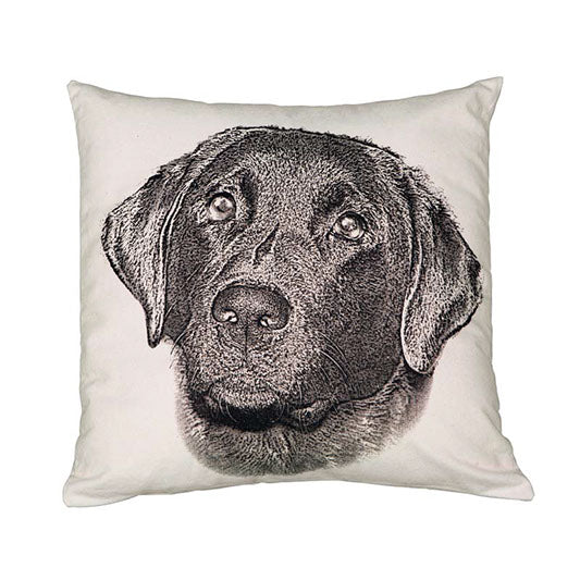 Eric & Christopher Black Labrador Cushion Cover