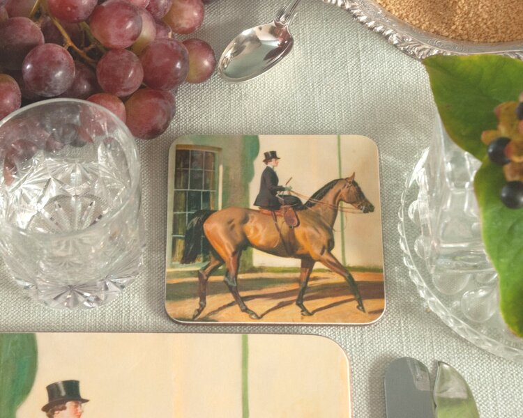 "Munnings ""My Wife & My Horse & Myself"" Coaster"
