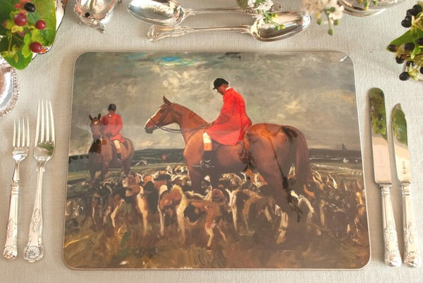 "Munnings ""Nobby Gray with the Hunt"" Serving Mat"