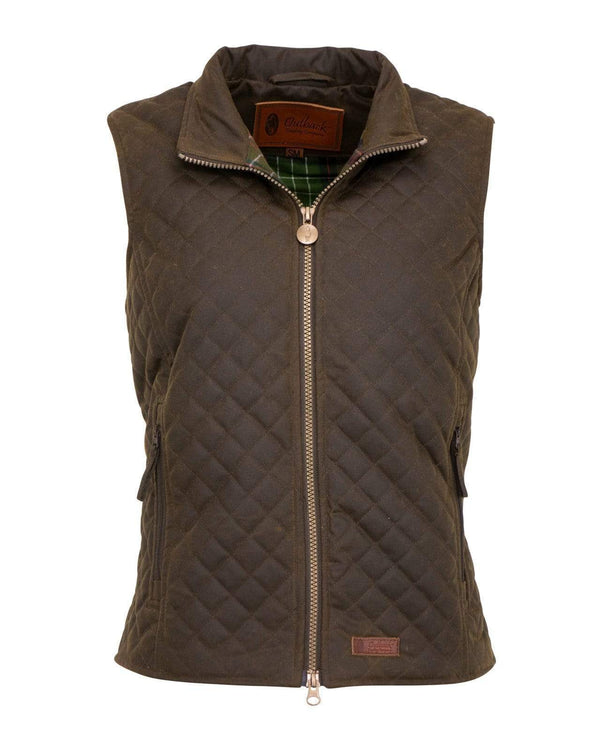 Outback Ladies Waterproof  Wax Quilted Gilet