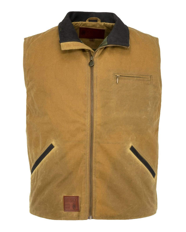 Outback Unisex Waterproof Wax Gilet - The Sawbuck