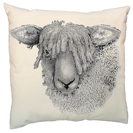 Eric & Christopher Shaggy Sheep Cushion Cover