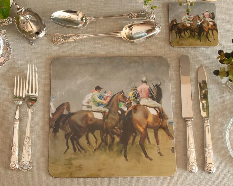 "Munnings ""Study for the Start"" Placemat"