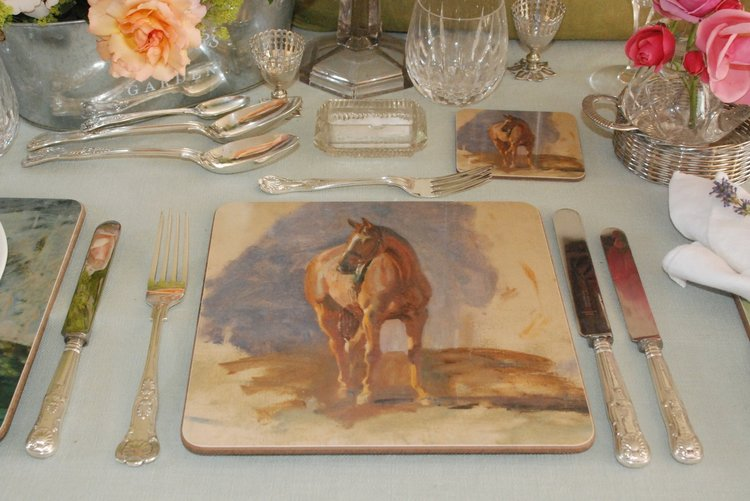 "Munnings ""Study of a Bay Horse 'Master'"" Placemat"