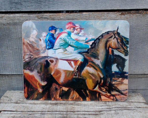 "Munnings ""Under Starters Orders II"" Serving Mat"