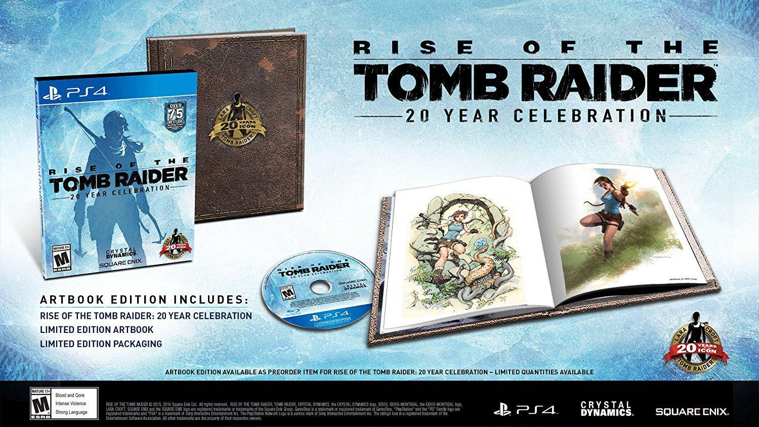 Rise Of The Tomb Raider 20 Year Celebration Playstation 4 Us