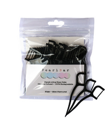 Charcoal Infused Floss Picks