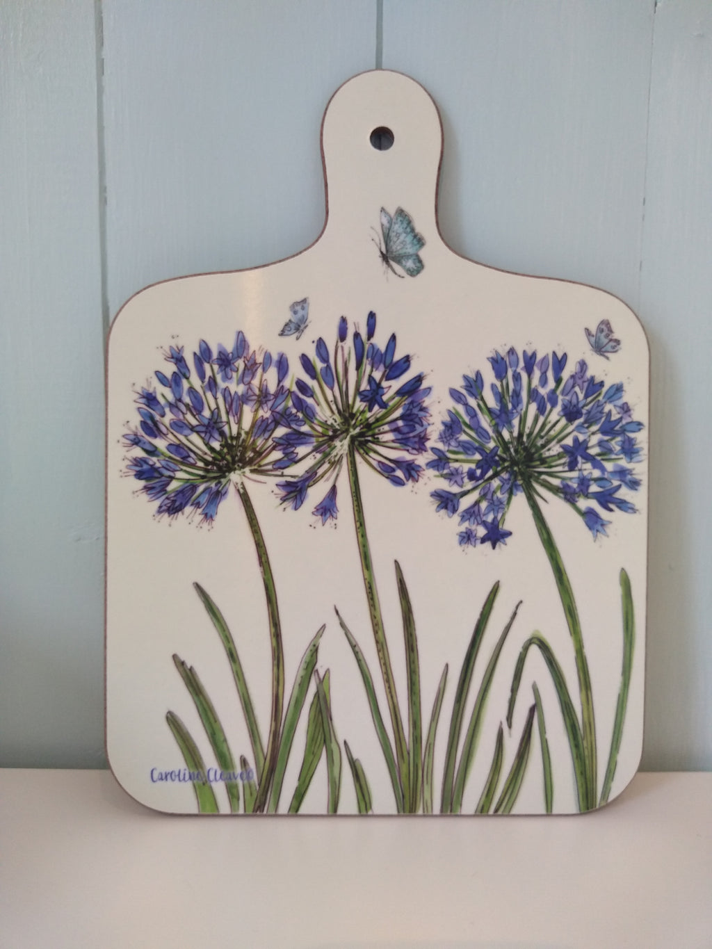 Caroline Cleave Agapanthus chopping board