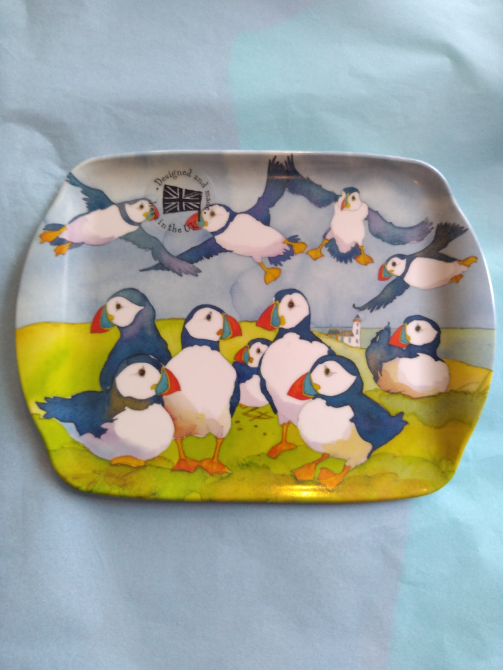 Playfully Puffins Scatter Dish